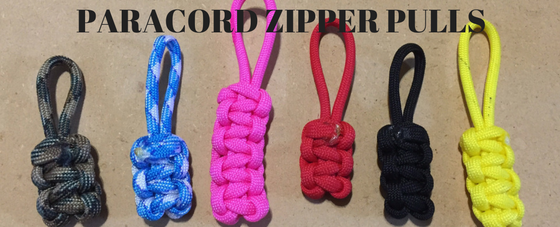 how to make zipper pulls out of paracord