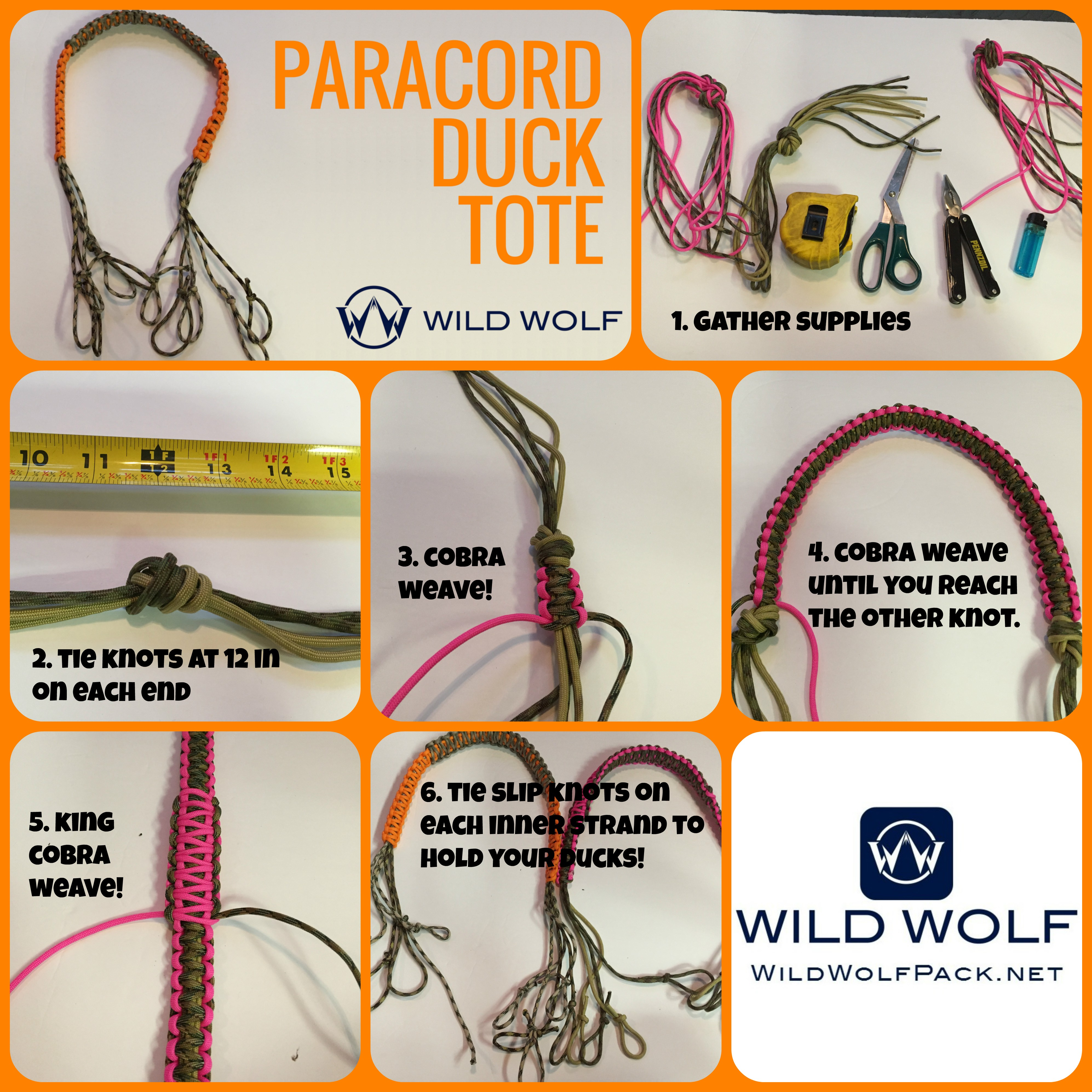 Paracord duck tote – how to diy | wild wolf pack.